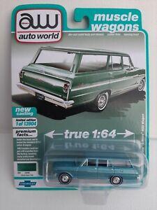 Auto world 1/64. Chevy Nova Wagon Neuf sous bister