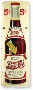 TIN SIGN Pepsi Cola Retro Bottle Sign Kitchen Cottage Farm A140
