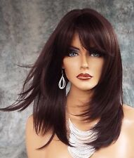 LARGE CAP LONG  WIG HEAT SAFE SKIN TOP✯ COLOR #4  STRAIGHT CLASSY STYLE 1068