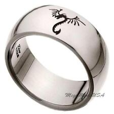 Legend Dragon Comfort Fit Wedding Band Engagement Titanium Ring Men Jewelry 9.5