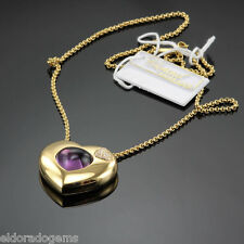 CHOPARD 7.10 CT. AMETHYST 0.17 CT. DIAMOND PENDANT NECKLACE 793830-0003 18K GOLD