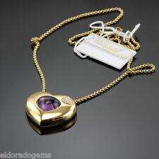 CHOPARD 7.10 CT. AMETHYST 0.17 CT. DIAMOND PENDANT NECKLACE 793830-0003 18K GOLD