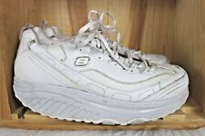 Skechers Shape Ups size 9.5 Fitness Athletic Shoes White Leather Women 11800