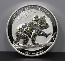 2016 $1 Australian Koala 1 oz .999 Fine Silver Coin Round