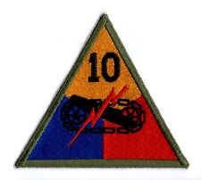 U.S.ARMY WW2 CUT-EDGE 10th ARMORED DIVISION PATCH