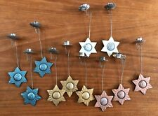 11 Antique Balance Candle Holders Christmas Tree Ornaments w Weighted Stars