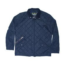 BARBOUR Quilted Black Regular Outdoor Jacket Mens L
