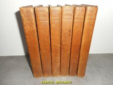 SERIE DE 6 LIVRES OEUVRES LORD BYRON 1830