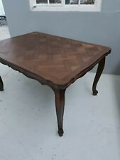 6 - 8 Seater French Louis Parquetry Oak Extending Dining Table Antique