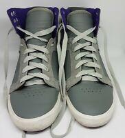 SUPRA Skytop Mens Leather Skate Shoes Muska001 Size IMO UK 10-10.5 Grey & Purple