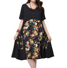 Unbranded Cotton Blend Plus Size Dresses for Women