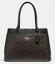 NWT Coach F31475 Signature Canvas Casey Tote Bag Handbag Brown Black