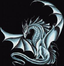 Blue Dragon Counted Cross Stitch Kit Dragons/FantasyFree 1st class Recorded post