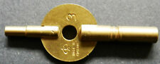 DOUBLE ENDED CARRIAGE CLOCK KEY No.7 ENGLISH MADE