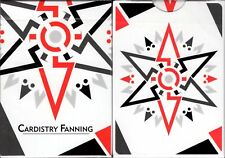 Cardistry Fanning White Playing Cards Poker Size Deck USPCC Custom Limited New