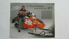 Tony Stewart Limited Edition F7 Arctic Cat Snowmobile Sales Brochure 2005