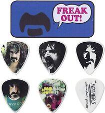 Jim Dunlop Frank Zappa Pick Tin Box (AZUL) Incluye 6 picos y P&P