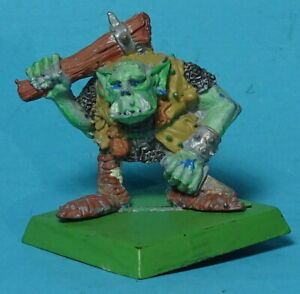 CITADEL - Orcs & Goblins - Brothers Grim Orc with Club - 1980s Warhammer OOP