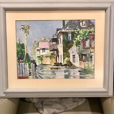 Emmett Fritz Watercolor St. Augustine Florida Original Listed Artist Aviles St.