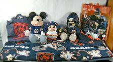 NFL CHICAGO BEARS LOT DISNEY MICKEY MOUSE & MORE BEARS ITEMS Beanie Ballz
