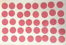 40 Kreise 2,5 cm Rosa Tonpapier Stanzteile/Streuteile/Dekoteile