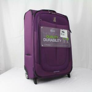 """TRAVELPRO WALKABOUT 4 22"""" ROLLABOARD EXPANDABLE CARRY ON SUITCASE PURPLE"""