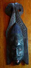 African Wood Mask Wall Hanging Handmade in Ghana