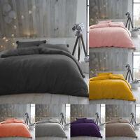 Pom Pom Duvet Set Single Double King Size Teddy Fleece Bedding Warm Quilt Cover