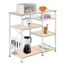 New listing 3-Tier Industrial Kitchen Baker's Rack Utility Microwave Oven Stand Storage Cart
