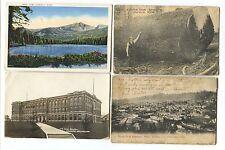 2 1910 & 1937, 1913 RPPC Giant Spruce Lake Town Aberdeen Washington Postcards