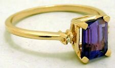 NATURAL 1.24 carats AMETHYST & DIAMONDS Ring 14k GOLD* Free Shipping & Appraisal