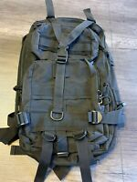 Military Tactical Molle Black Backpack Rucksack Bugout Bag Used
