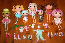 lot of 7 LALALOOPSY Full Size Dolls + Animals Accessories Shoes Clothes etc NICE