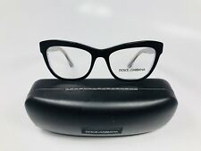 a2444c562e3  New Dolce   Gabbana DG 3253 3080 Black On Clear with Print 51mm with Case