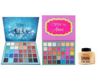 Beauty Creations 35 Color Pro Eyeshadow Palette, Elsa & Anna Set + Banana Powder