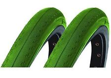 PAIR OF GREEN 700 x 23c DSI TYRES FOR FIXIE RACER SPORTS ROAD SEMI-SLICK SRI-89