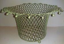 Light Green Wire Planter Basket
