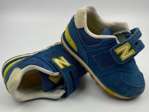 New Balance 574 Classics Toddler Size 7 Blue and Yellow