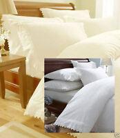 Embroidered Pillowcases Balmoral White or Cream Price per Pair
