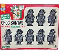 x10 CHOC SANTAS - (10 Treats) - Pawsley Dog Christmas Food bp Xmas Pet Chocolate