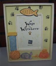 """Russ Berrie Handpainted Shadowbox Photo Frame Wags to Whiskers """"Kitty"""" Cat   NIB"""