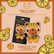 TED A CAR Lemon Ice Tea Flavour Car Air Freshener TEDACAR Teddy Bear Little Tree