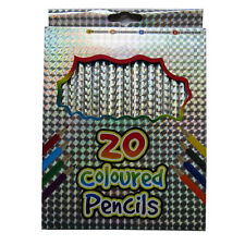 Children's Holographic Colouring Pencils – Box of 20 – By Grafix