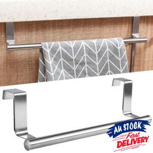 Cupboard Hanger Bar Over Door Kitchen Rack Bathroom Rail Tea Towel Holder Hook