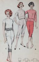 1950's VTG Butterick Sewing Top & Pant Pattern 8640 Jr Misses' Size11 Bust311/2