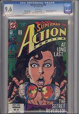 Action #662  CGC 9.6  KEY Superman Reveals Secret ID to Lois Lane: Price Drop!