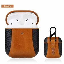 Protective Headphones Case Snake Leather Earphone Case Anti-Lost Case with Hook