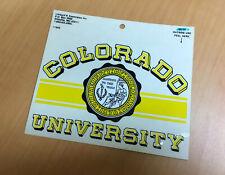 NOS Vintage University of Colorado CU Boulder Buffaloes Seal Sticker Decals