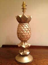 Hollywood RegencyTable Lamp  Hand Carved Pineapple Detail *Lovely Condition H20""