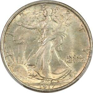1917 PCGS MS63 CAC Choice BU Walking Liberty Half Dollar - Lustrous & Original!